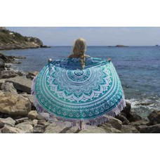 Roundie Gypsy Spring turquoise fringes