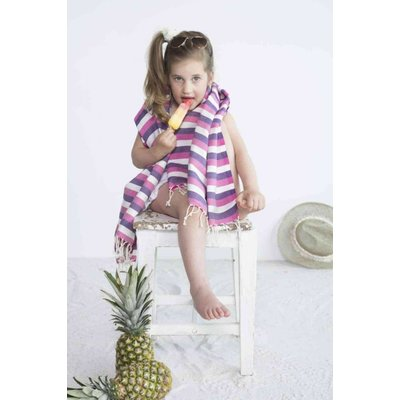 Call it Fouta! kids hamamdoek multi purple pink