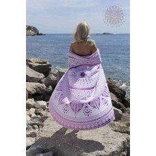 Call it Fouta! Roundie Gypsy Spring pink pompom