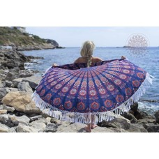 Call it Fouta! Roundie Gypsy Peacock blue red