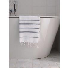 Ottomania hamam handdoek wit/zwart