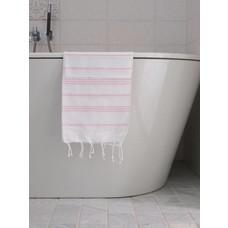 Ottomania hamam handdoek wit/roze