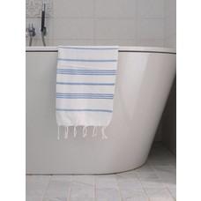 Ottomania hamam handdoek wit/blauw