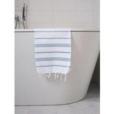 Ottomania hamam handdoek wit/petrol