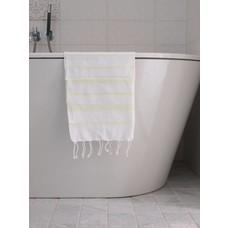 Ottomania hamam handdoek wit/lime