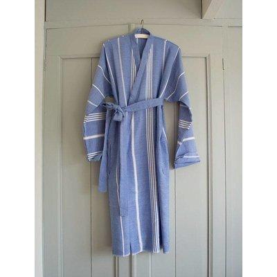 Ottomania badjas Hamam grieksblauw maat M/L