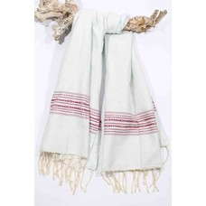 Call it Fouta! hamamdoek Talazzio creme red