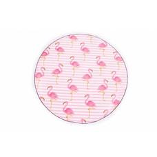 Call it Fouta! Roundie Gypsy Flamingo pink fringe