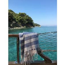 Ottomania hamamdoek XL grieksblauw geruit
