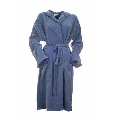 Sauna badjas Stone denim blue maat M