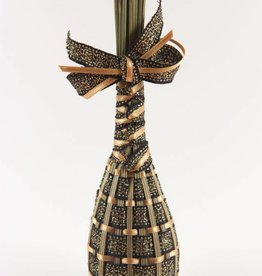 Lavendel corset satijn in de kleur zwart met goud
