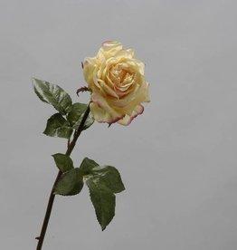 Zijden gele roos