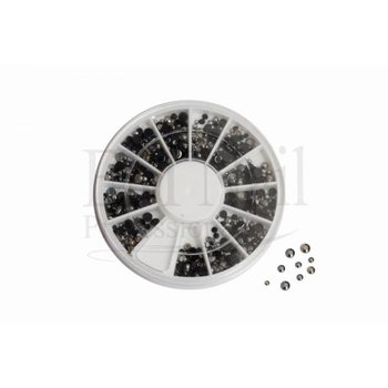 Nail-art Caroussel zwart/metaal nr 0917