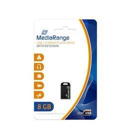 MediaRange Nano flash drive USB 2.0 8GB met sleutelhanger