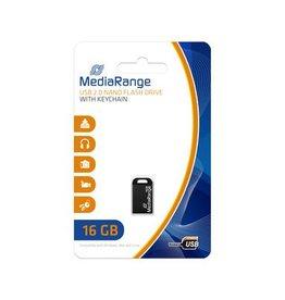 MediaRange Nano flash drive USB 2.0 16GB met sleutelhanger