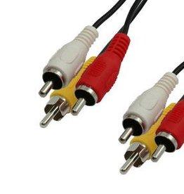 MediaRange Audio/Video connection cable, 3x RCA plug (phono)/3x RCA plug (phono), 3.0m, black