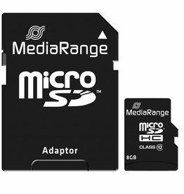 MediaRange Geheugenkaart Micro SDHC 8GB Classe 10