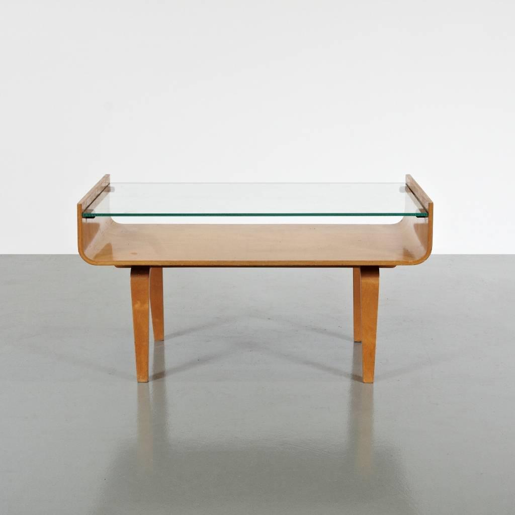 Glazen bijzettafel van Den Boer Gouda.