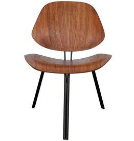 Borsani Three-legged walnut plywood Chair