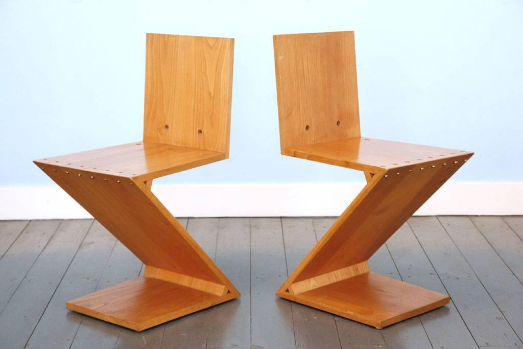 Stoel Gerrit Rietveld : Gerrit th. rietveld zigzag stoelen wonderwood
