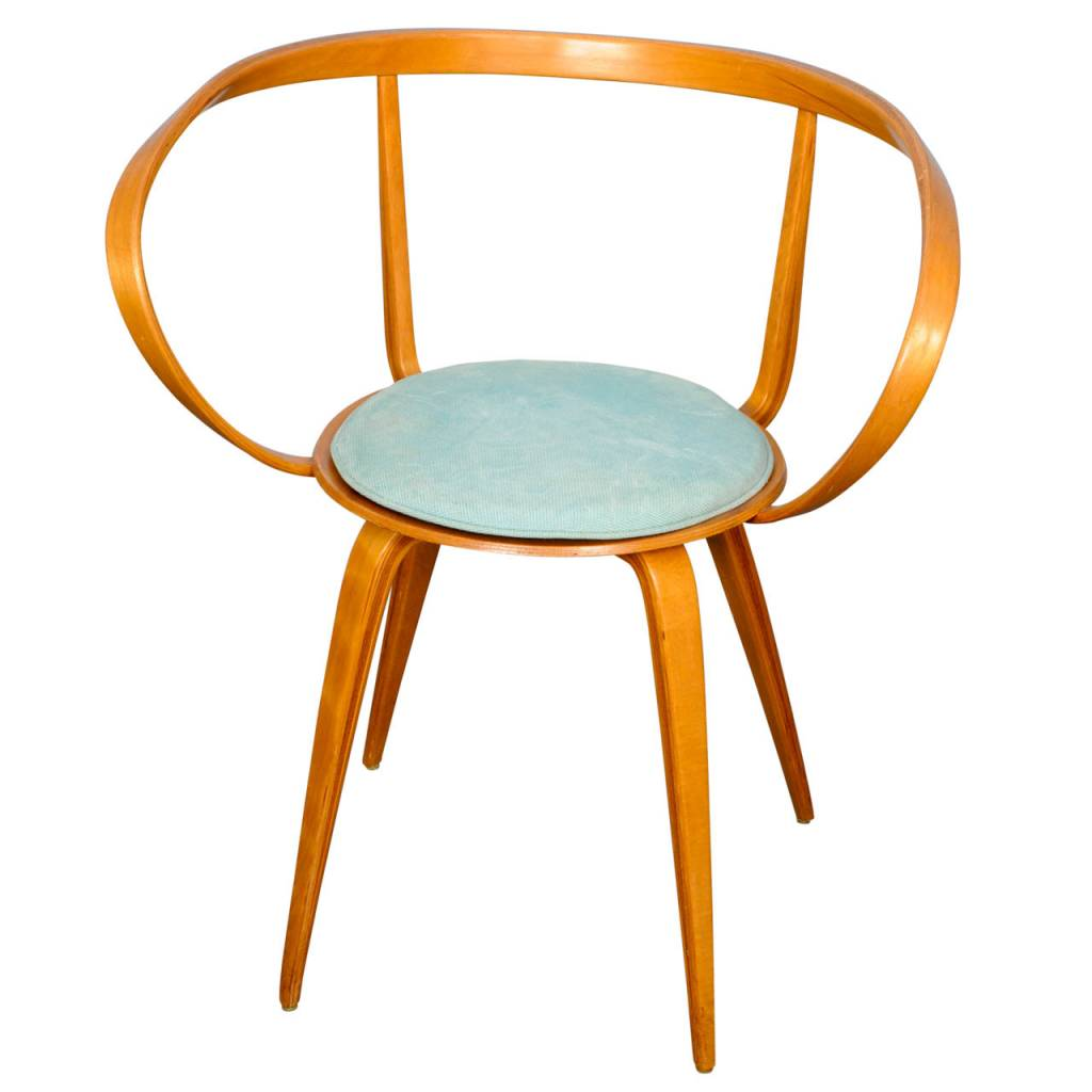 Elegant Pretzel Chair With Armrests By George Nelson ...