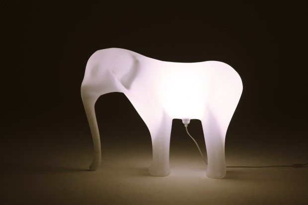 Low-res elephant stool / lamp by Richard Hutten