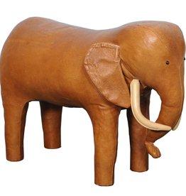 Omersa Leather Elephant Footstool