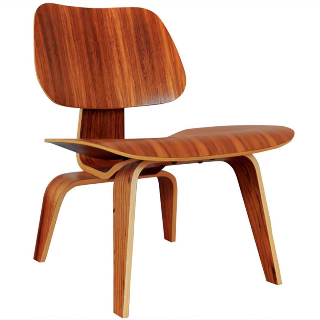 Eames palisander lounge stoel lcw wonderwood for Herman miller stoel