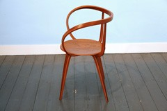 Pretzel Chair with armrests by George Nelson