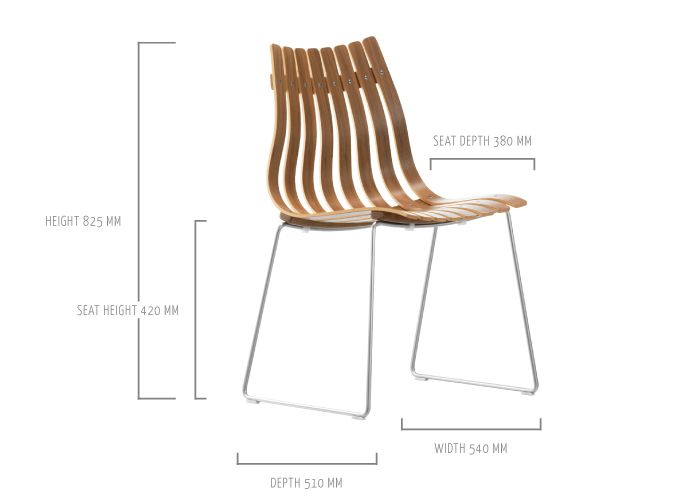 SCANDIA JUNIOR stackable dining chair by Hans Brattrud