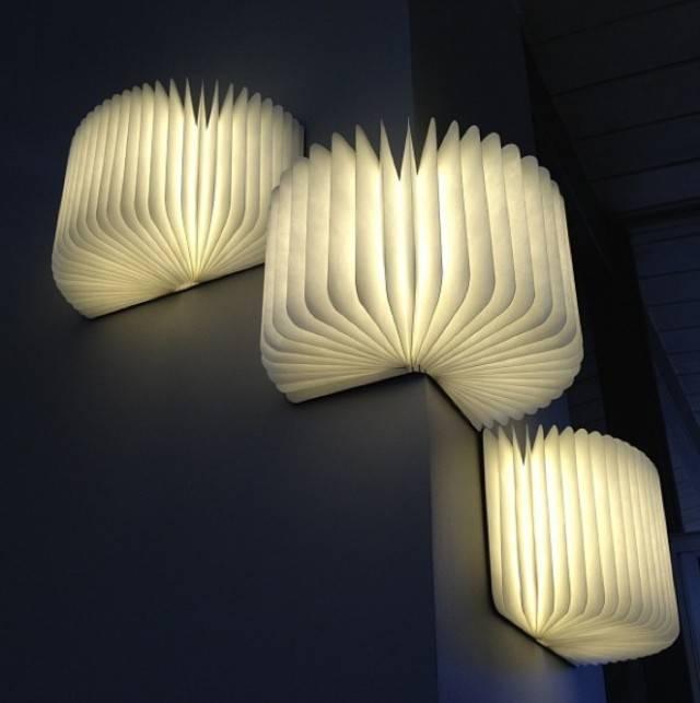 Lumio Book Lamp Walnut
