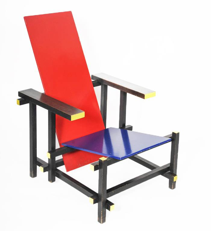 Charming Red Blue Chair By Gerrit Thomas Rietveld ...