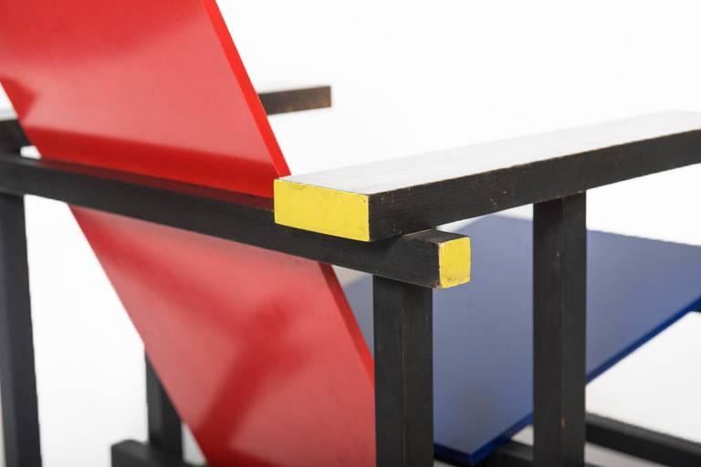 Rood Blauwe Stoel : Rood blauwe stoel van gerrit thomas rietveld wonderwood