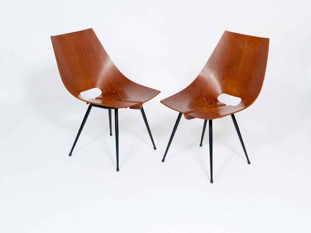 Vintage Plywood Vittorio Nobili Vintage Plywood Chairs ...