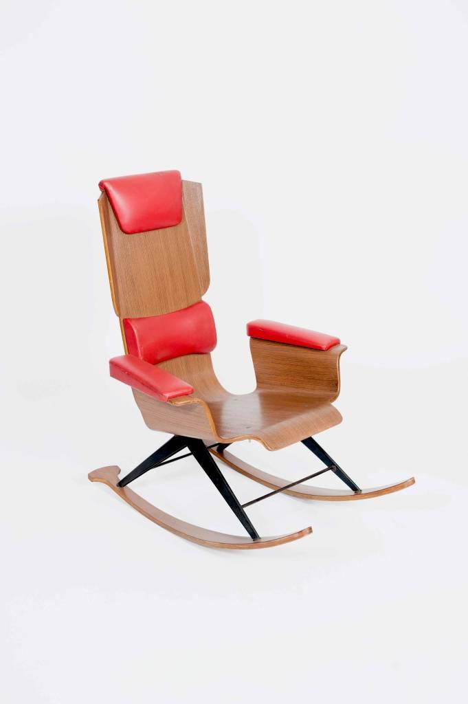 Vintage Plywood Vintage Rocking Chair
