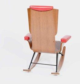 Vintage Plywood Vintage Schommelstoel