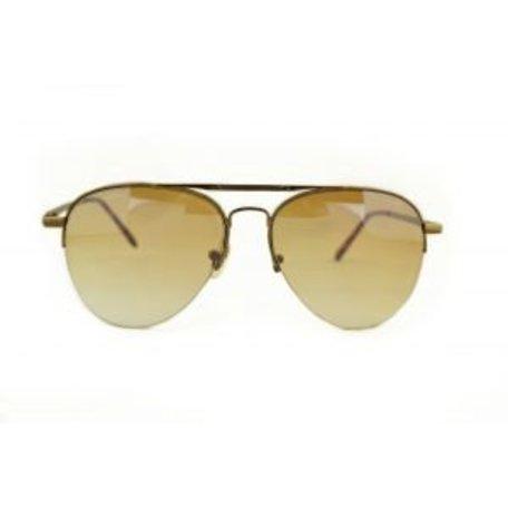Gunkleurige Pilotenbril met Grijs/Bruine glazen - Climax