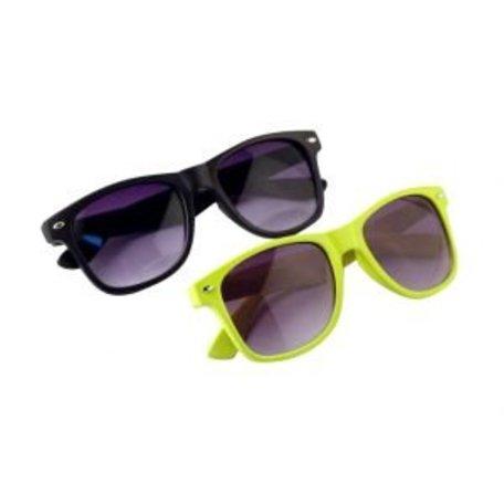 Zonnebril AANBIEDING - Zwarte en Gele Wayfarer Zonnebril