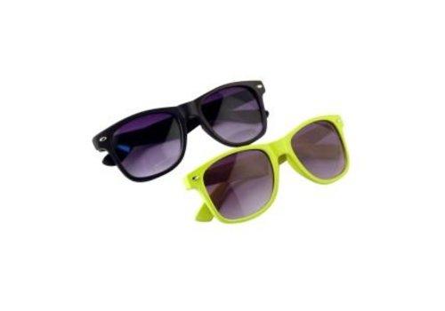 BK Zonnebril AANBIEDING - Zwarte en Gele Wayfarer Zonnebril