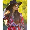BK Rode Spiegel Zonnebril met Gouden Spiegelglazen