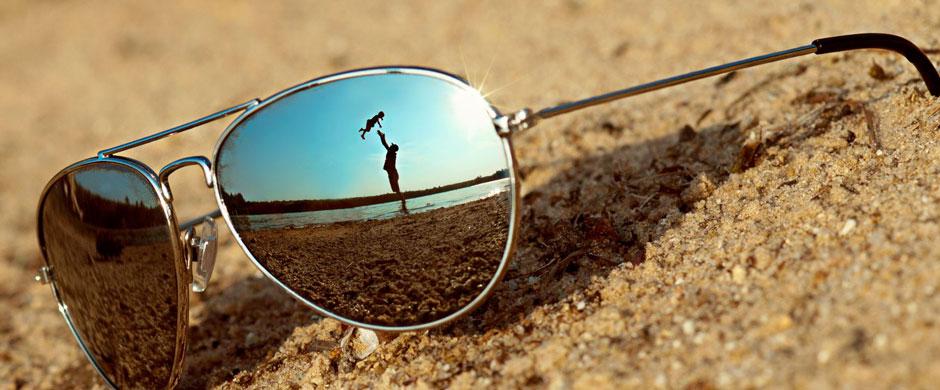 Pilotenbril-strand