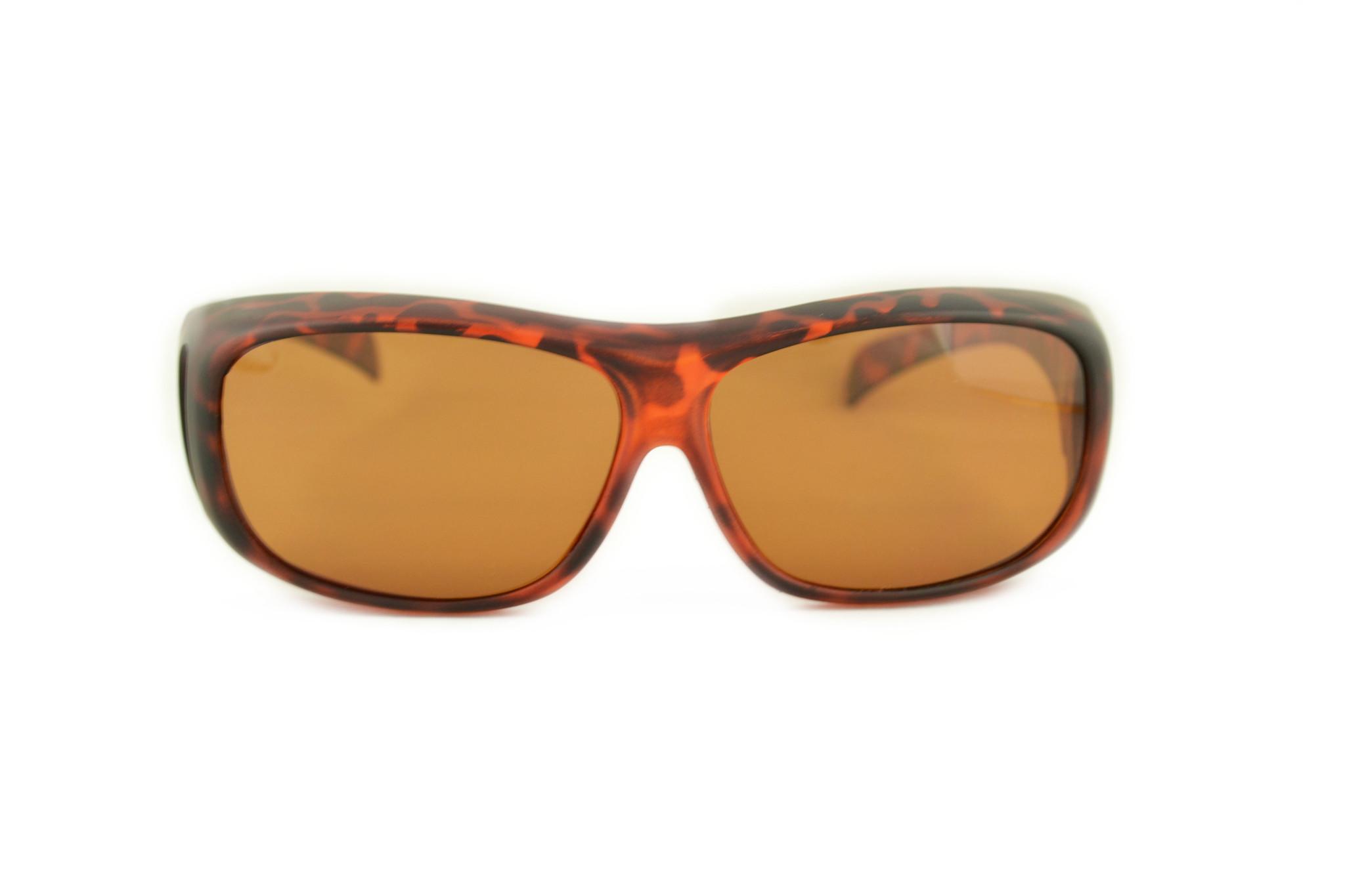 bruine overzet zonnebril