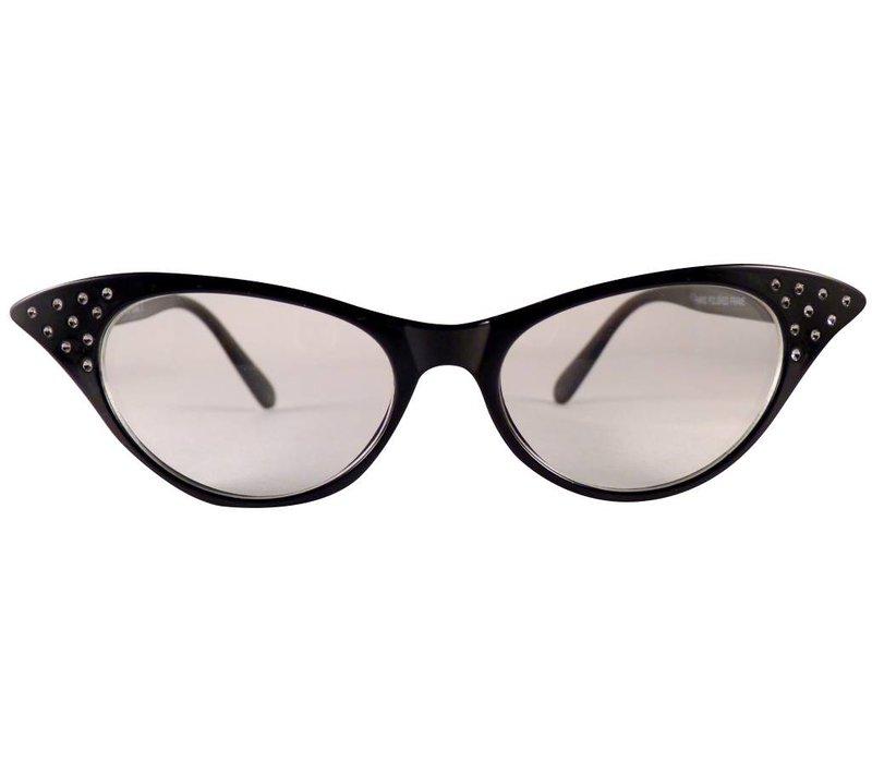 Zwarte Vlinderbril - Angie