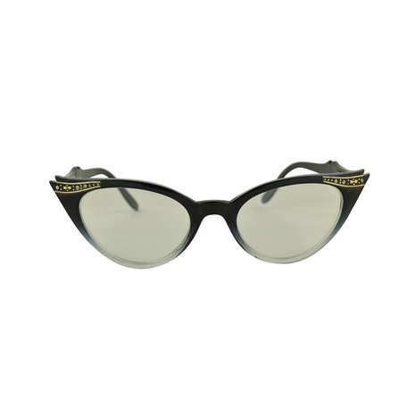Zwart/Transparante Vlinder Bril - Quincy