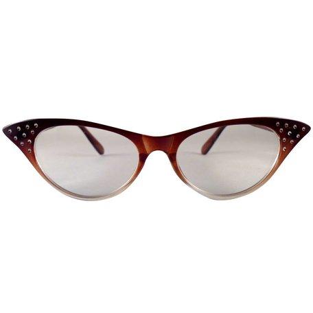 Bruin/Transparante Vlinderbril - Angie