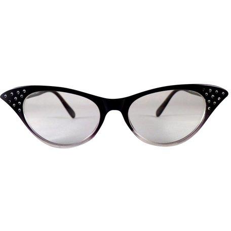 Zwart/Transparante Vlinderbril - Angie