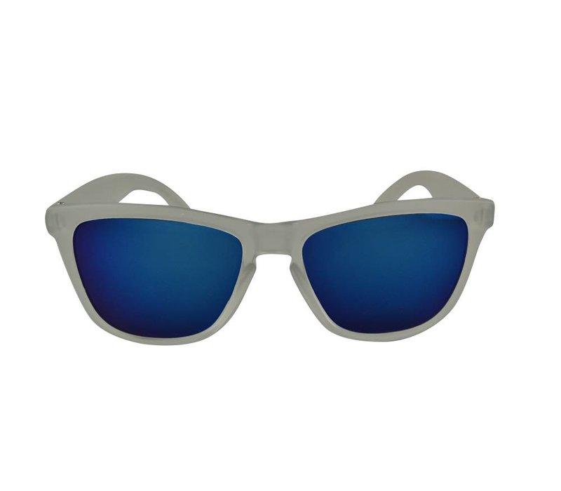 Transparante Spiegel Zonnebril met Blauwe spiegelglazen - Shine Way