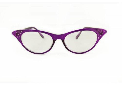 BK Paarse Vlinderbril - Angie