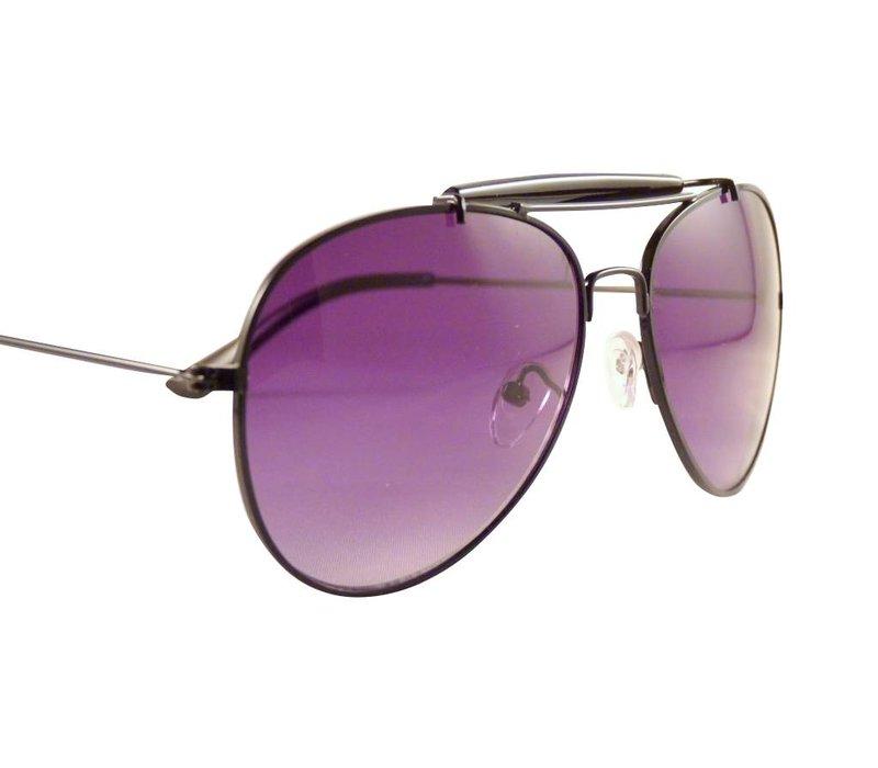 Zwarte Pilotenbril - Luxus Black Edition