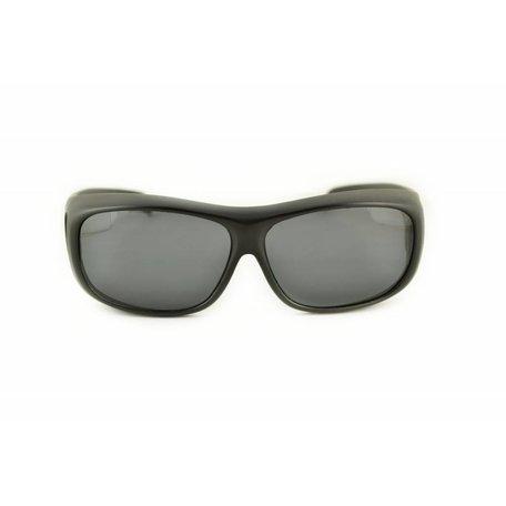Zwarte Overzet Zonnebril - Ledge
